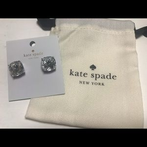 Kate Spade New York Square Clear Stud Earring